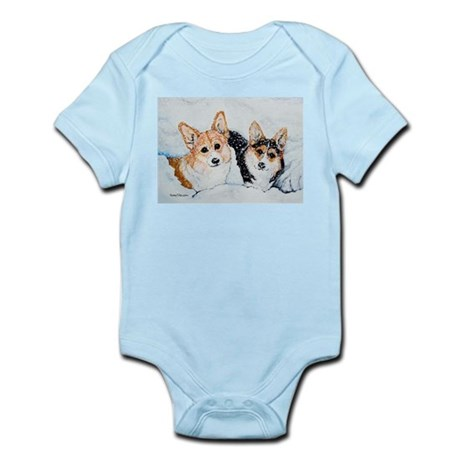 Corgi Snow Dogs Infant Bodysuit