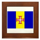Madeira Flag Framed Tile