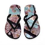 Cherry Blossom Trailer Park Flip Flops