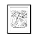 Tarzan's Girl Framed Panel Print