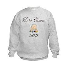 1st Christmas Girl 2011 Sweatshirt