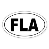 FLA florida euro Oval Decal