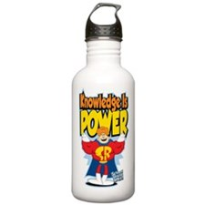 Knowledge Is Power Sports Water Bottle
