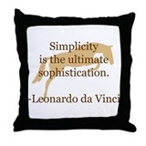 simplicity quote w/ jumper horse Throw Pillow