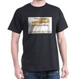simplicity quote w/ jumper horse Black T-Shirt