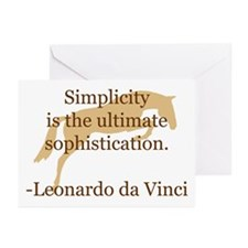 simplicity quote w/ jumper horse Greeting Cards (P
