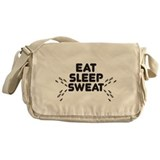 eat sleep sweat Messenger Bag