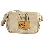 Funny Tofu Tote Messenger Bag