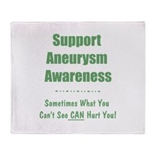 Support Aneurysm Awareness Throw Blanket
