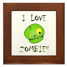I Love Zombies Framed Tile