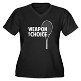 Tennis - Weapon Women's Plus Size V-Neck Dark T-Sh
