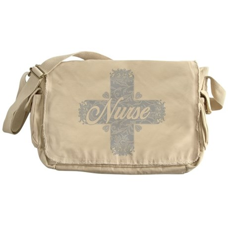 Nurse Blue Lacy Cross Messenger Bag