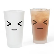 Emoticon Drinking Glass (Angry)