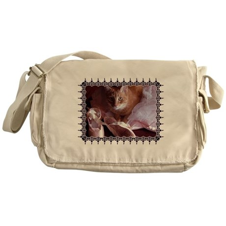Cat and Ballet Slippers Messenger Bag