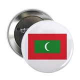 "The Maldives Flag 2.25"" Button (10 pack)"