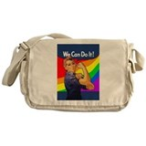 Rainbow Rosie Messenger Bag