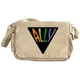 Gay Ally Rainbow Triangle Messenger Bag