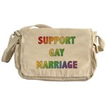 Support Gay Marriage Messenger Bag