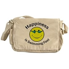 Happiness is Swimming Fast Messenger Bag