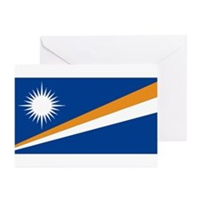 Marshall Islands Flag Greeting Cards (Pk of 10
