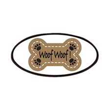 Dog Bone Paw Print Woof Patches