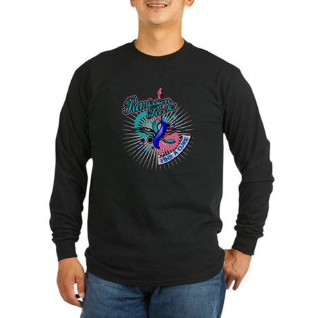 Thyroid Cancer Remission ROCK Long Sleeve Dark T-S