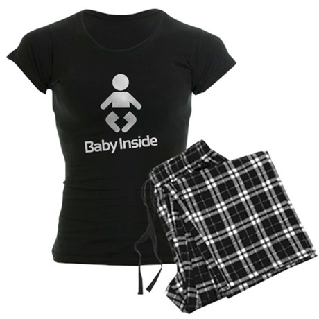 Baby Inside new mom to be Women's Dark Pajamas