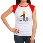 Barrel Racing Chick Women's Cap Sleeve T-Shirt