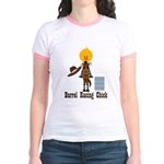 Barrel Racing Chick Jr. Ringer T-Shirt