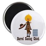 Barrel Racing Chick Magnet