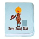 Barrel Racing Chick baby blanket