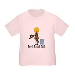 Barrel Racing Chick Toddler T-Shirt