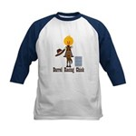 Barrel Racing Chick Kids Baseball Jersey