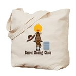 Barrel Racing Chick Tote Bag