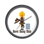 Barrel Racing Chick Wall Clock