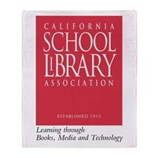 California School Library Throw Blanket