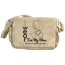 Lung Cancer Hero Ribbon Messenger Bag