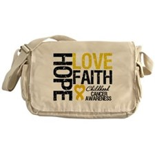 Childhood Cancer Faith Messenger Bag