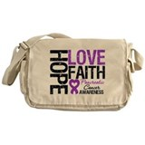 Pancreatic Cancer Faith Messenger Bag