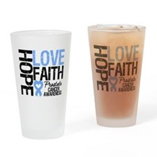Prostate Cancer Faith Drinking Glass