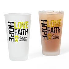 Sarcoma Hope Faith Drinking Glass