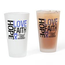 Stomach Cancer Faith Drinking Glass