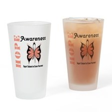 Endometrial Cancer Hope Drinking Glass