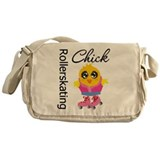 Rollerskating Chick Messenger Bag