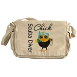 Scuba Diver Chick Messenger Bag