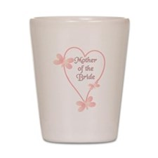 Mother Of The Bride Pink Hear Shot Glass