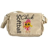 Softball Chick Messenger Bag