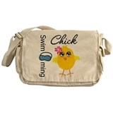 Swimming Chick v3 Messenger Bag
