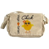 Vegetarian Chick Messenger Bag
