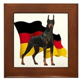 German Flag Doberman Framed Tile